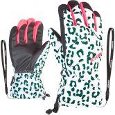 Ziener - Agil AS® Gloves Kids white leo neon pink