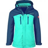 Trollkids - Bryggen 3in1 Softshell Jacke Mädchen midnight blue dark mint