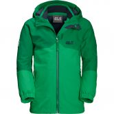 Jack Wolfskin - Iceland 3in1 Jacke Kinder evergreen