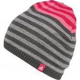 adidas - Stripy Beanie Kinder dark grey heather core heather white