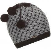 Eisbär - Nia Pompon Mütze Kinder schwarz graumelange