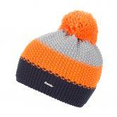 Eisbär - Star Pompon Hat Kids darkcobalt orangemelange lightgrey
