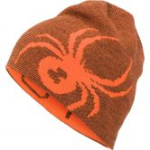 Spyder - Reversible Bug Beanie Kinder bryte orange