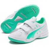 Puma - Auriz V Jr. Indoor Shoes Kids puma white green glimmer