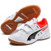 Puma - Auriz V Jr. Indoor Shoes Kids puma white puma black nrgy red gum