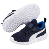 Puma - Carson 2 V PS Klettsportschuhe Kinder peacoat strong blue puma white