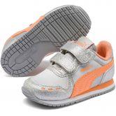 Puma - Cabana Racer Glitz V Infant Shoes puma silver cantaloupe puma white