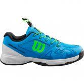 Wilson - Rush Pro Jr QL Tennisschuhe Kinder brilliant blue white green gecko
