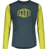 Scott - Trail Dri Longsleeve Bike Trikot Kids nightfall blue lemongrass yellow