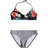 Roxy - Happy Spring Bikini Mädchen anthracite hibiscus