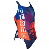 Arena - Rock Sports Swimsuit Girls navy nectarine