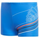 adidas - Colorblock Spring Break Swim Boxers Boys blue white
