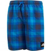 adidas - Checked Badeshorts Jungen blue trace blue