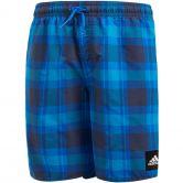 adidas - Checked Swim Shorts Boys blue trace blue