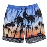 Quiksilver - Sunset Vibes Volley Badeshorts Jungen silver lake blue