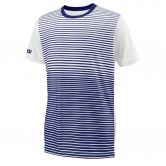 Wilson - Team Striped Crew T-shirt Boys blue depths white