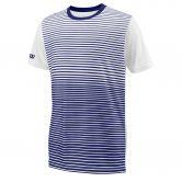 Wilson - Team Striped Crew T-Shirt Jungen blue depths white