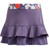 adidas - Frill Tennis Skirt Girls tech purple shock yellow