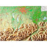 Georelief - Bavarian Upperland small without frame