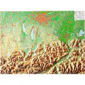 Georelief - Bayerisches Oberland klein ohne Rahmen