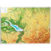 Georelief - Allgäu Bodensee groß ohne Rahmen