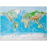 Georelief - Welt Klein ohne Rahmen