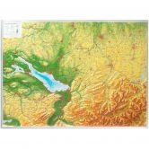 Georelief - Allgäu Bodensee klein ohne Rahmen