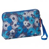 Eagle Creek - Pack-It Original Quilted Reversible Wristlet Cosmetics Bag daisy chain blue