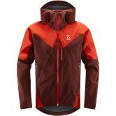 Haglöfs - L.I.M Touring Proof Hardshell Jacket Men maroon red habanero