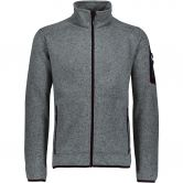 CMP - Knitted Fleece Jacket Men argento asphalt