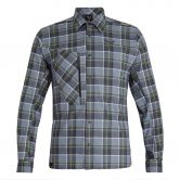SALEWA - Fanes Flannel 4 Polarlite Shirt Men grisaille ombre white