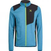 Montura - Thermal Grid Pro Maglia Fleece Jacket Men blu ottanio verde acido