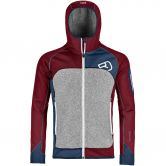 ORTOVOX - Fleece Plus Hoody Herren dark blood
