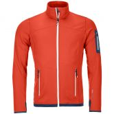 ORTOVOX - Fleece Light Jacke Herren crazy orange