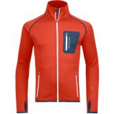 ORTOVOX - Fleece Jacke Herren crazy orange