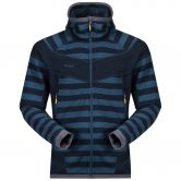 Bergans - Hollvin Wolljacke Herren dark steel blue steel blue stripped