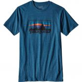 Patagonia - 73 Logo T-Shirt Herren big sure blue