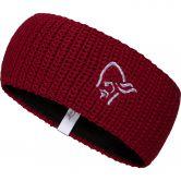 Norrona - Logo Stirnband Unisex rhubarb