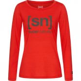 super.natural - Essential I.D. Longsleeve Damen high risk red olive night