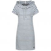 super.natural - Funnel Kleid Damen fine stripe print fresh white
