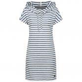 super.natural - Funnel Dress Women fine stripe print fresh white
