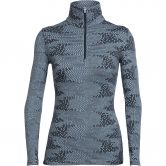 Icebreaker - Vertex LS HalfZip Flurry Women ice blue jet heather