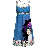 Crazy Idea - Kimera Kleid Damen blau