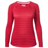 Berghaus - Tech Tee Stripe Damen dark cerise