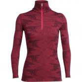 Icebreaker - Vertex LS HalfZip Flurry Women wild rose jet heather