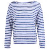 super.natural - Waterfront Slash Neck Top Damen blau weiß