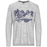 super.natural - Graphic Mountain Sketch Long Sleeve Men ash melange