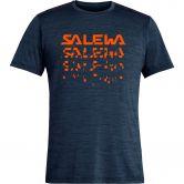 SALEWA - Puez Hybrid 2 Dry T-Shirt Men premium navy melange