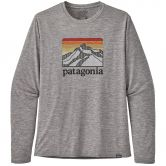 Patagonia - L/S Cap Cool Daily Graphic Shirt Men line logo ridge feather