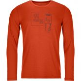 ORTOVOX - 185 Merino F2 Longsleeve Men desert orange